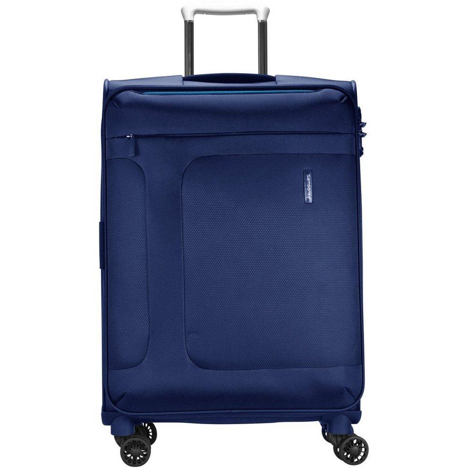 Samsonite Asphere Spinner 4-Rollen Trolley 77 cm in blue light blue