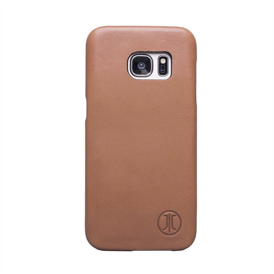 JT Berlin Handytasche »Leather Cover Style Pure für Samsung Galaxy S7« in Cognac
