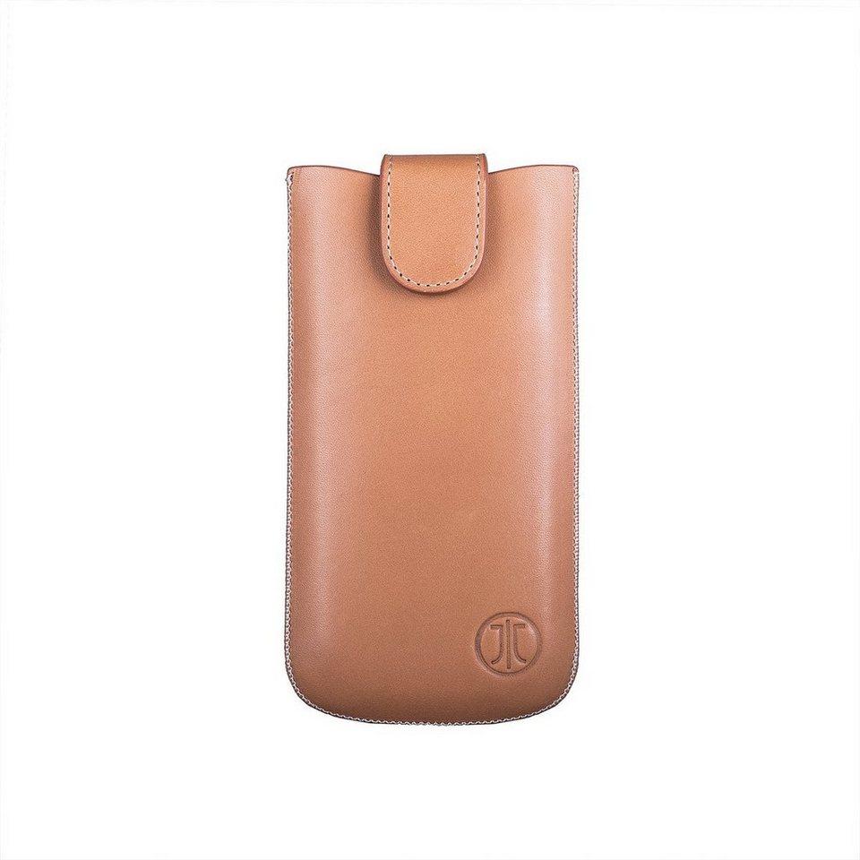 JT Berlin Handytasche »SlimCase Premium Leather Size ML« in Cognac