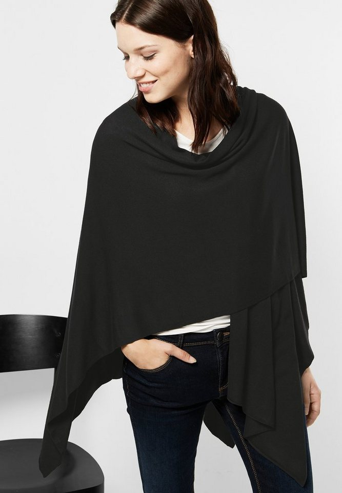 Street One Offener Poncho Mona in Black