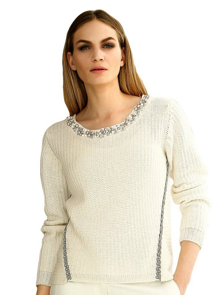 Alba Moda Pullover in offwhite