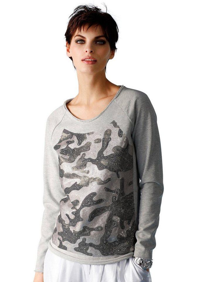 Alba Moda Shirt in grau/silber