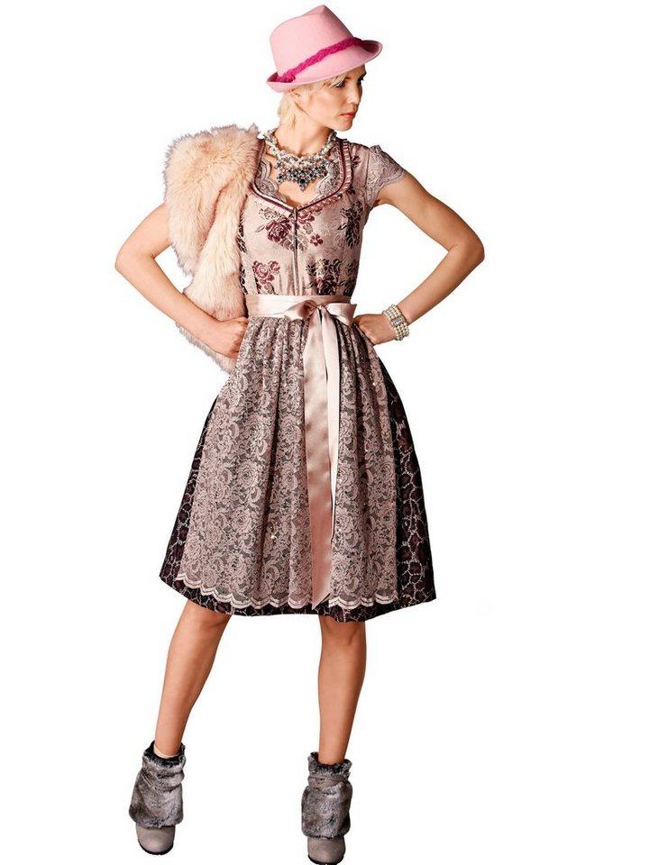 Alba Moda Dirndl-Kleid in creme/braun