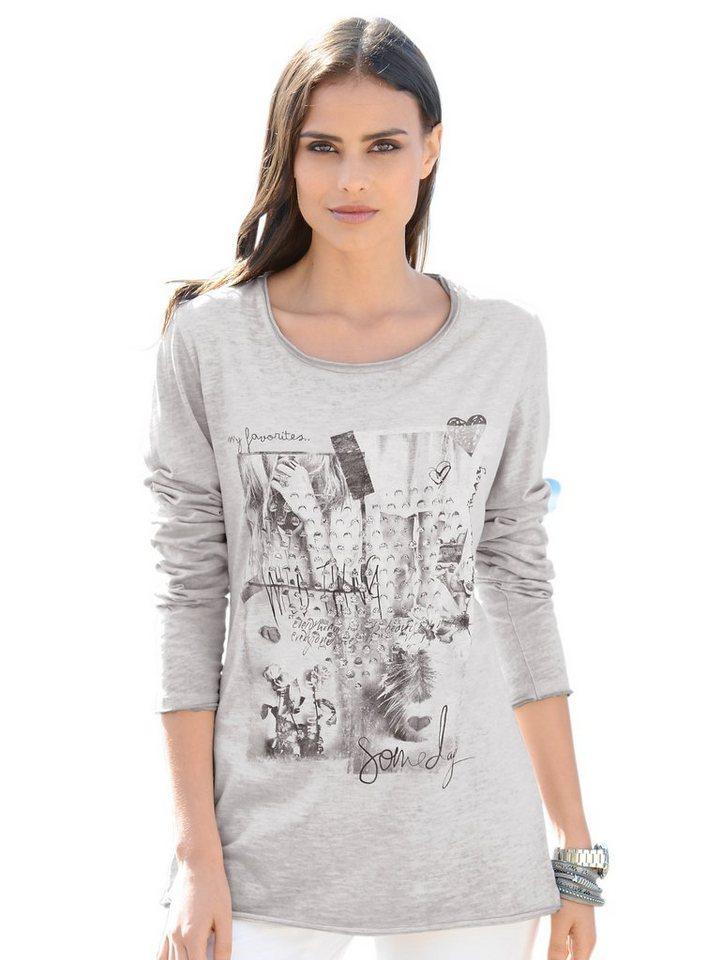 Alba Moda Druckshirt in offwhite/taupe
