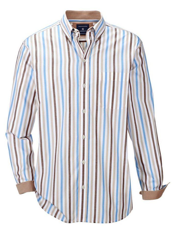 Babista Hemd mit Streifenmuster in weiß-braun-bleu