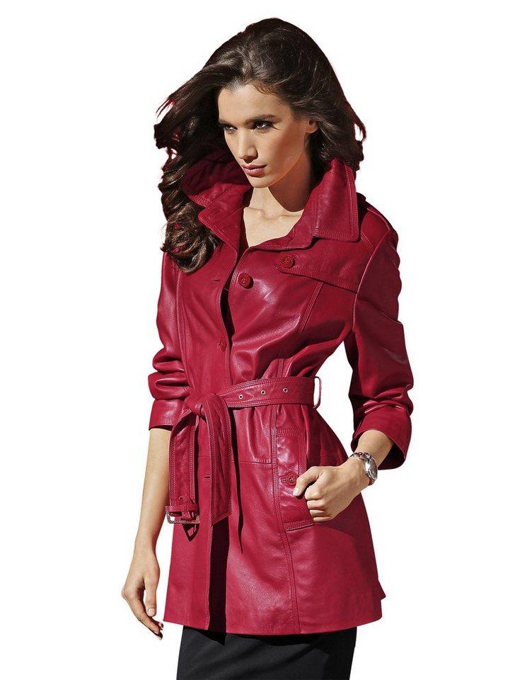 Alba Moda Ledermantel in rot