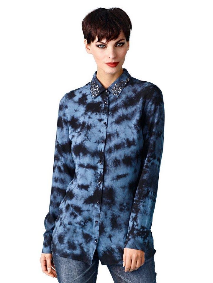 Alba Moda Bluse in blau/schwarz