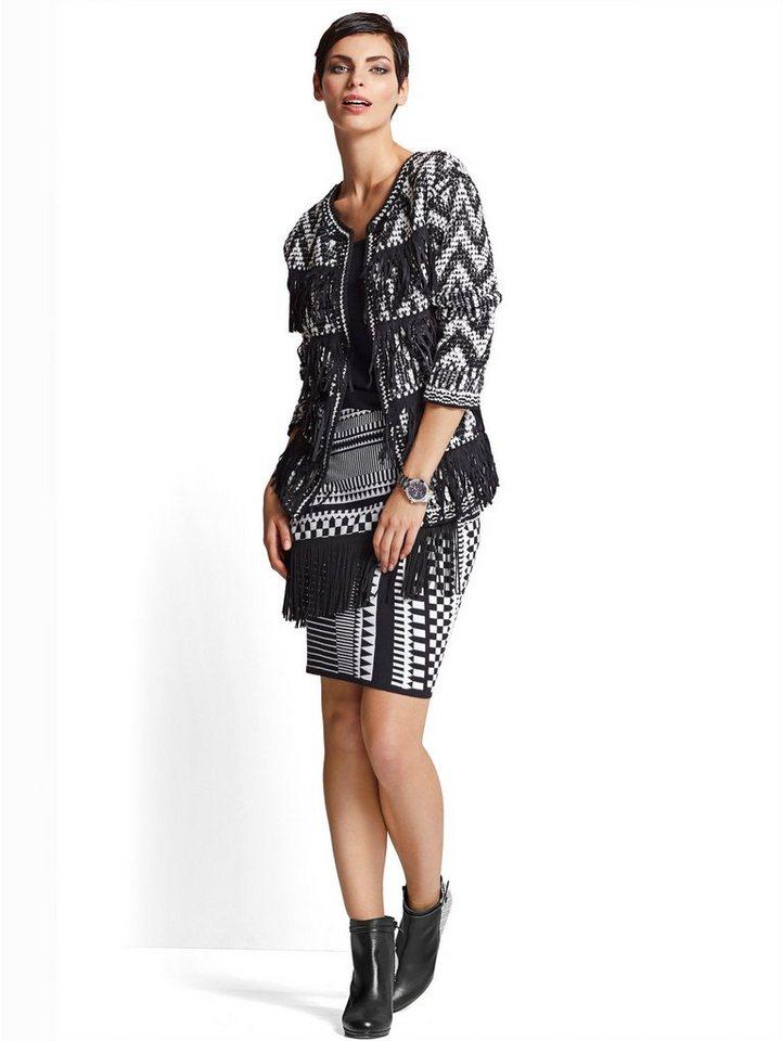 Alba Moda Strickrock in schwarz/weiß