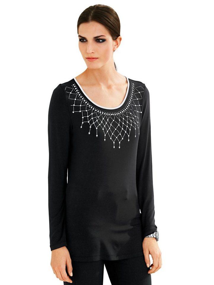 Alba Moda Langarmshirt in schwarz