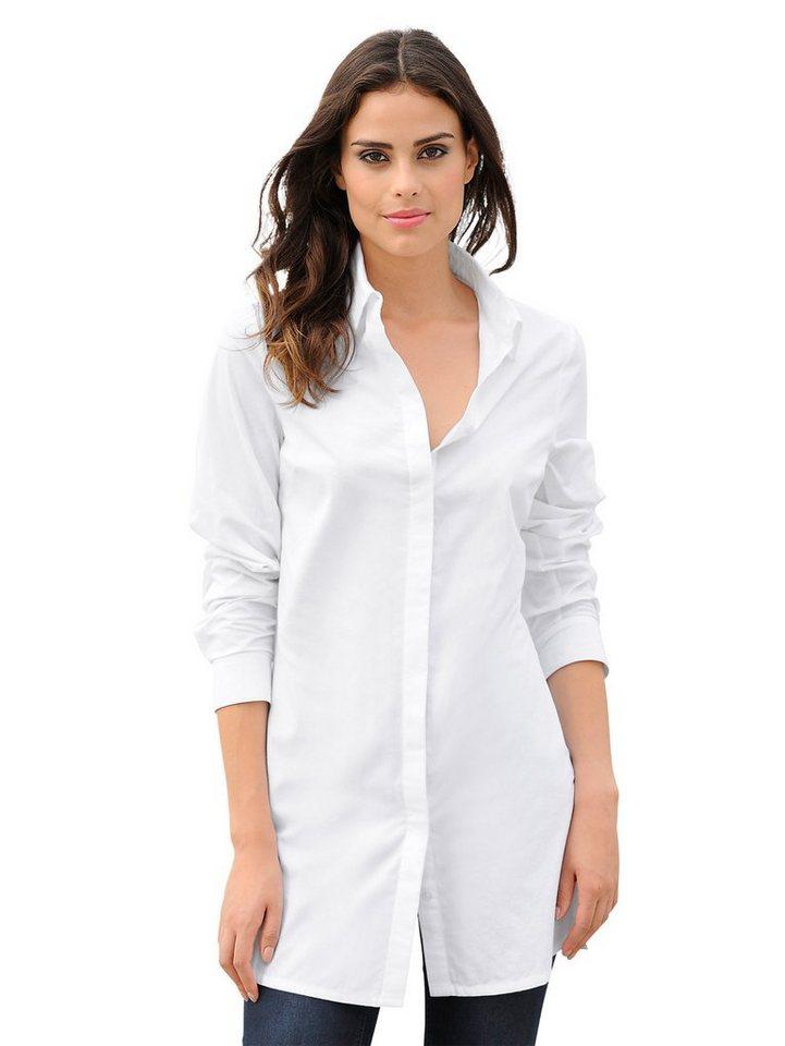 Alba Moda Longbluse in weiß
