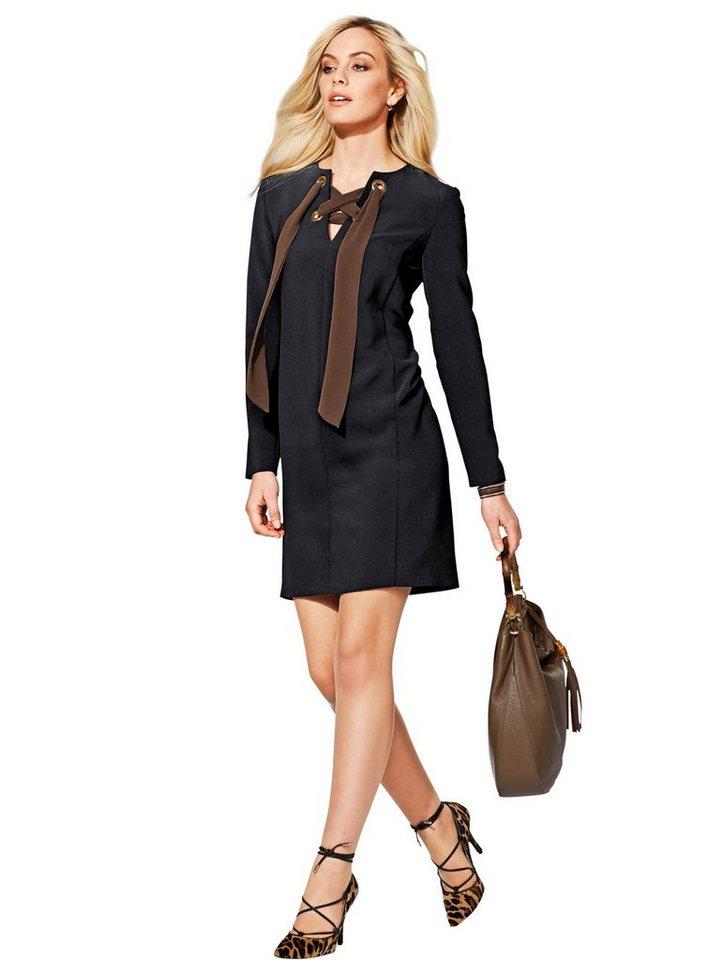 Alba Moda Kleid in schwarz/cognac