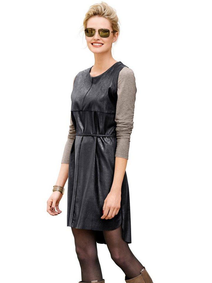 Alba Moda Velourskleid in schwarz