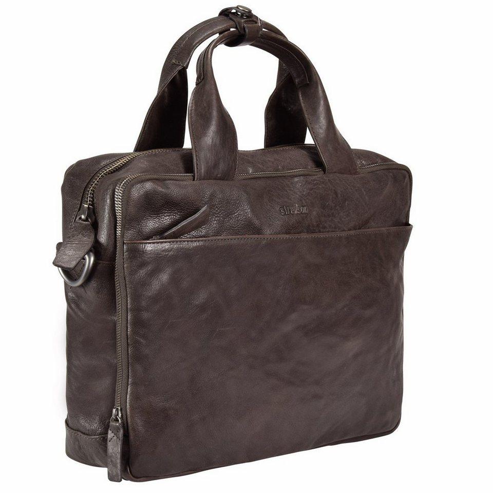Strellson Coleman Aktentasche Leder 39 cm Laptopfach in dark brown