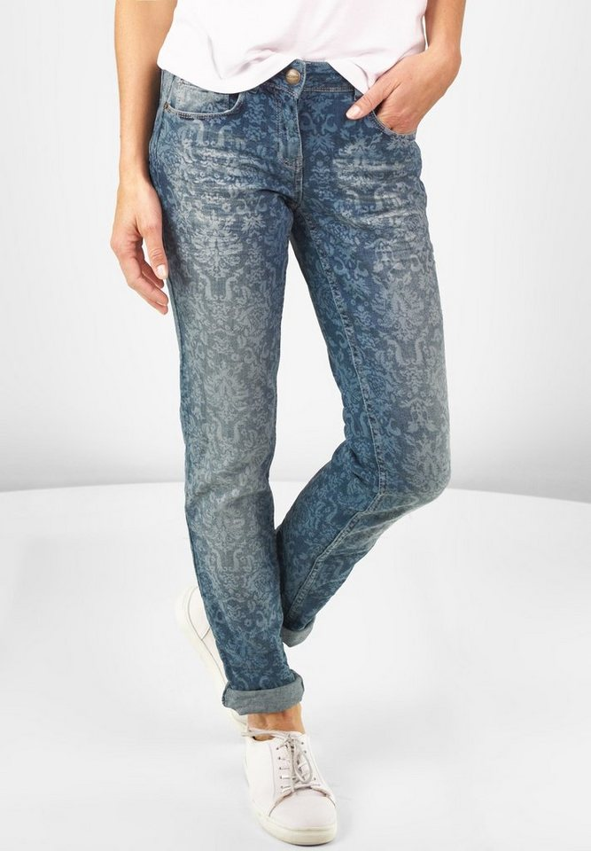CECIL Regular Fit Denim Charlize in mid blue used wash