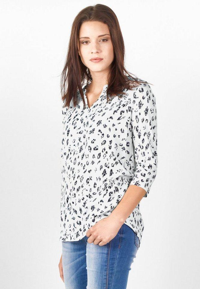 Street One Shirt mit Leoprint Gertrud in off white