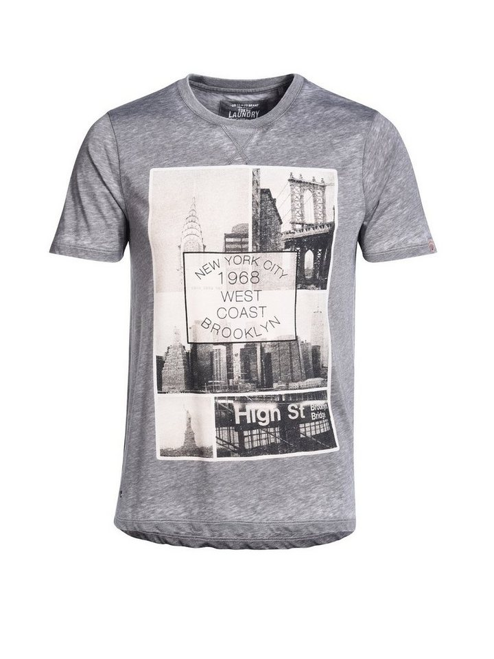 Tokyo Laundry Print-Shirt »Brooklyn« in grau
