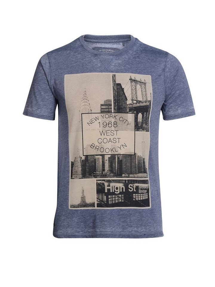Tokyo Laundry Print-Shirt »Brooklyn« in blau