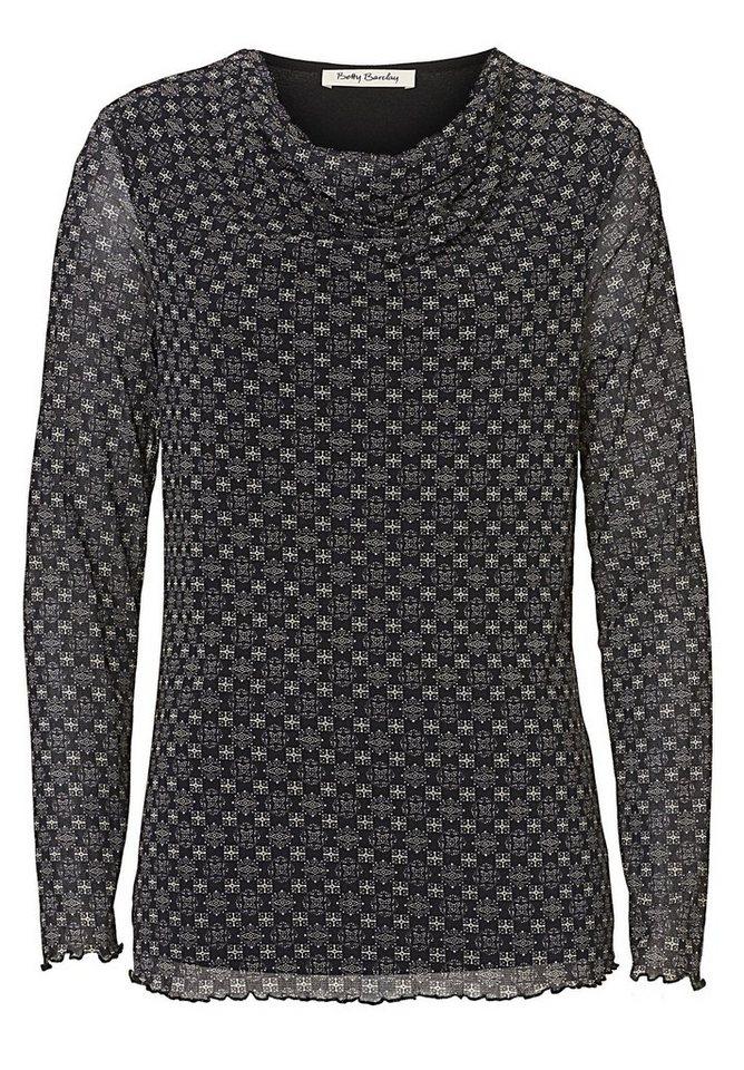Betty Barclay Shirt in Schwarz/Beige - Grau