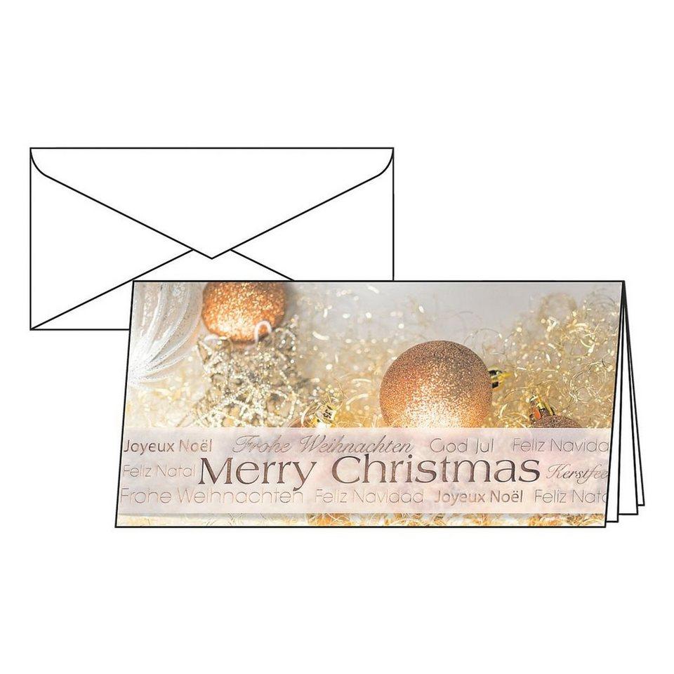 Sigel Weihnachtskarten »Christmas Glitter« mit Umschl...