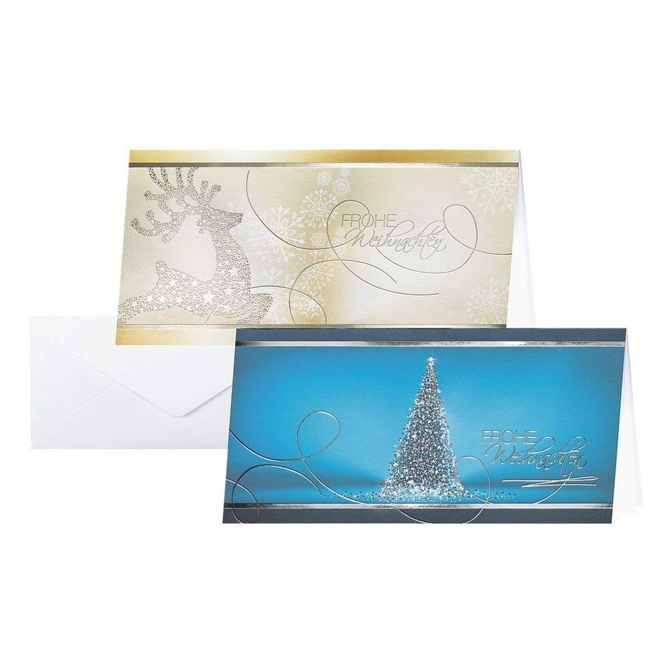 Sigel Weihnachtskarten-Set »Best Wishes«