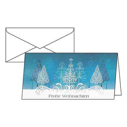 Sigel Weihnachtskarten »Blue Trees«