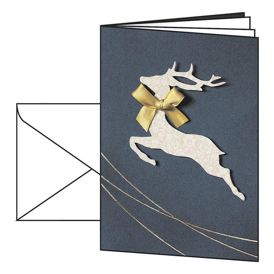 Sigel Weihnachtskarten »Santa's Reindeer« mit Umschl...