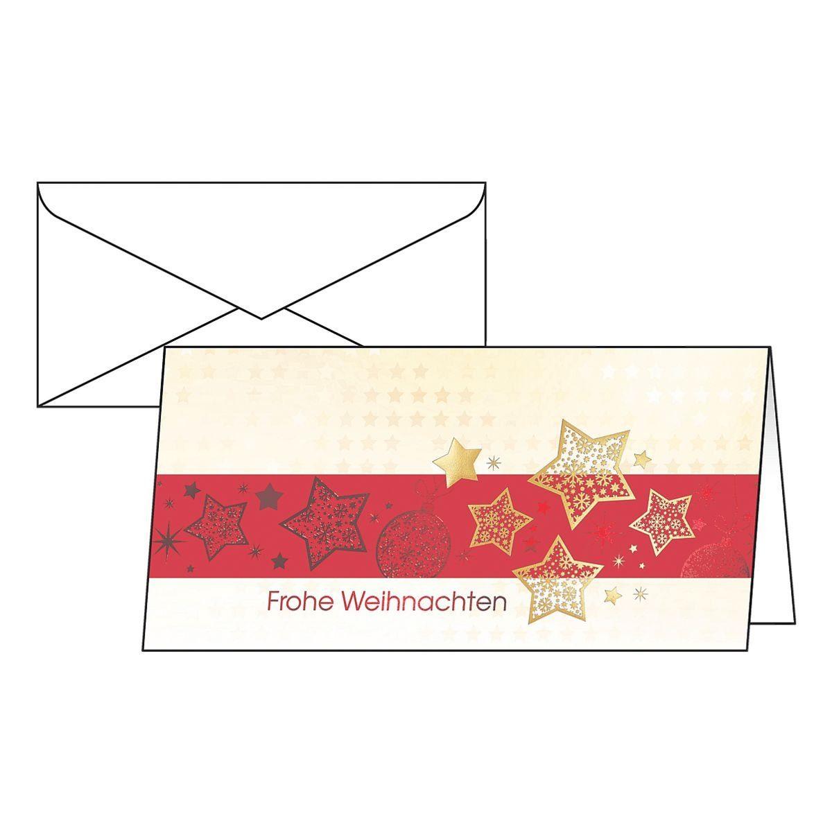 Sigel Weihnachtskarten »Golden Stars«