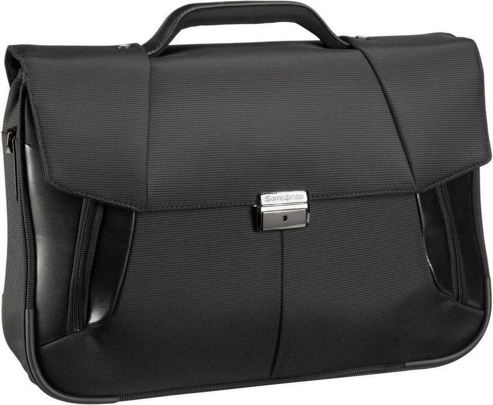 """Samsonite XBR Briefcase 2 Gussets 15.6"""" in Black"""