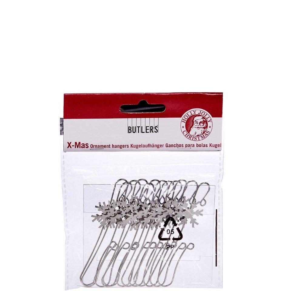 BUTLERS X-MAS »Kugelaufhänger Schneeflocke« in silber