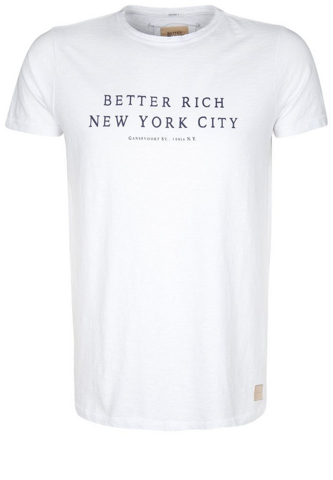 Better Rich T-Shirt »CREW NYC« in white