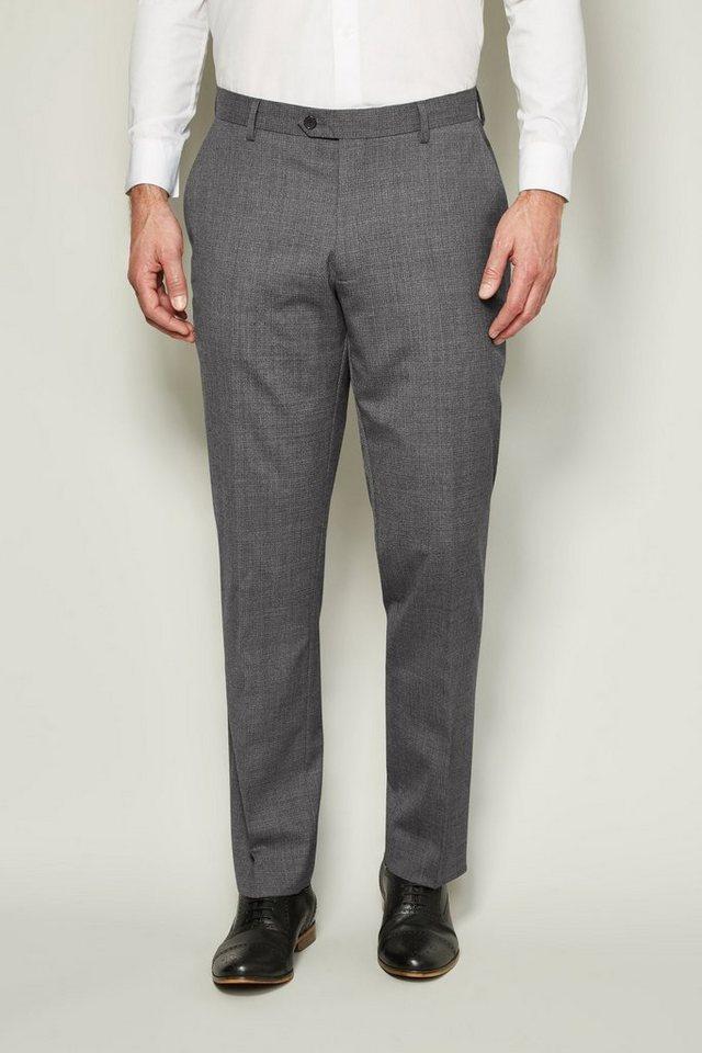 Next Tailored-Fit Baukastenhose aus Wollmix mit Textur in Light Grey Tailored-Fit