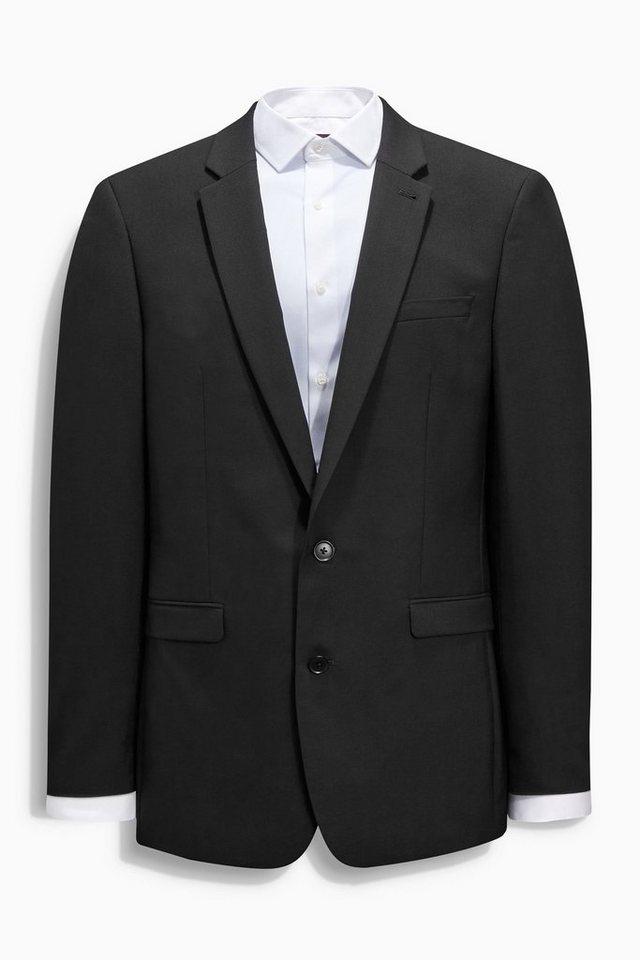 Next Baukastensakko aus reiner Wolle in Black Tailored-Fit