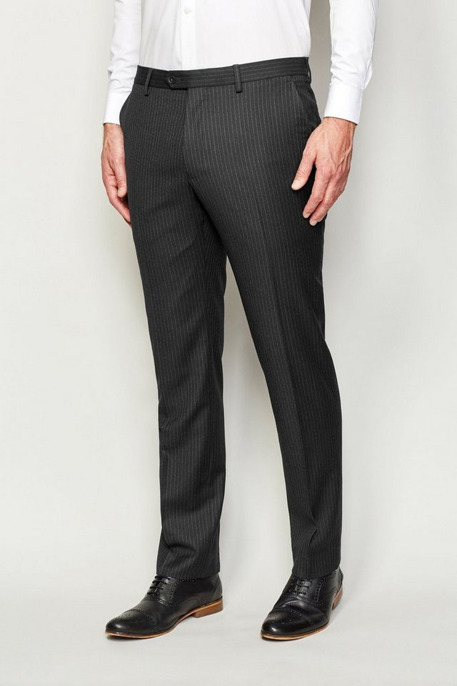 Next Nadelstreifen Baukastenhose Tailored-Fit in Charcoal Tailored-Fit