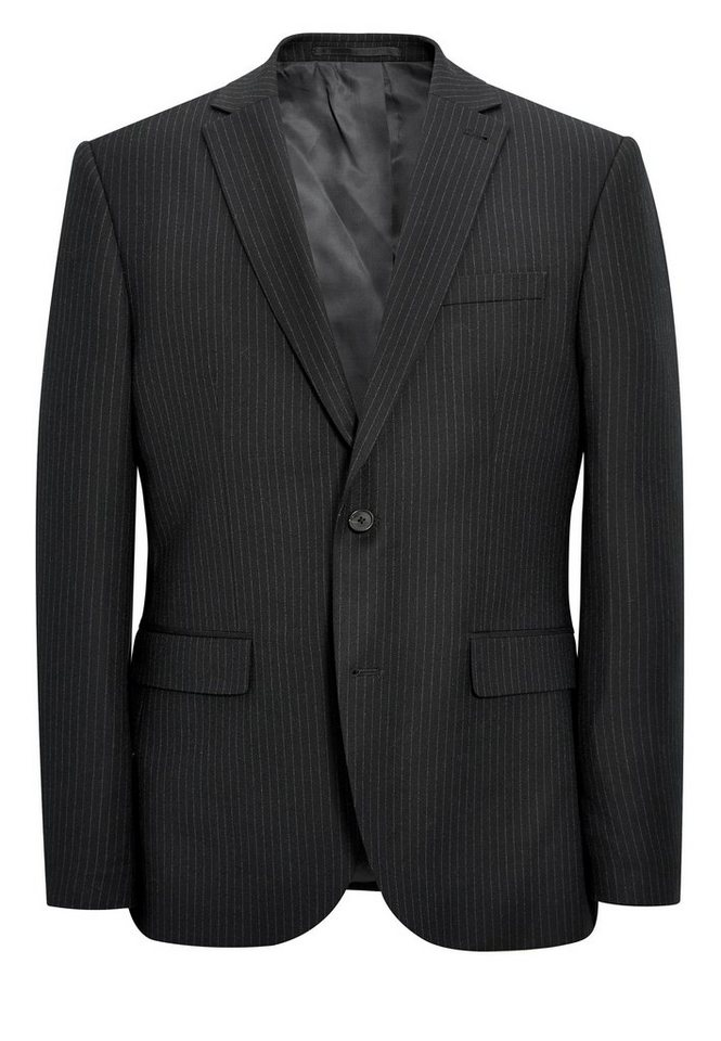 Next Nadelstreifen Baukastensakko Tailored-Fit in Charcoal Tailored-Fit