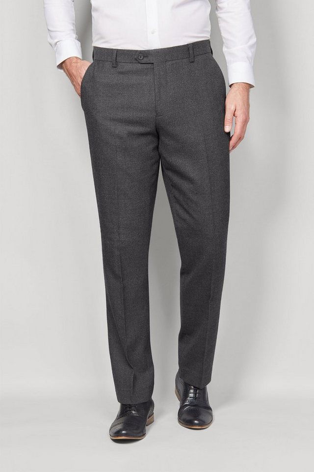 Next Baukastenhose aus Flannelstoff in Charcoal Tailored-Fit