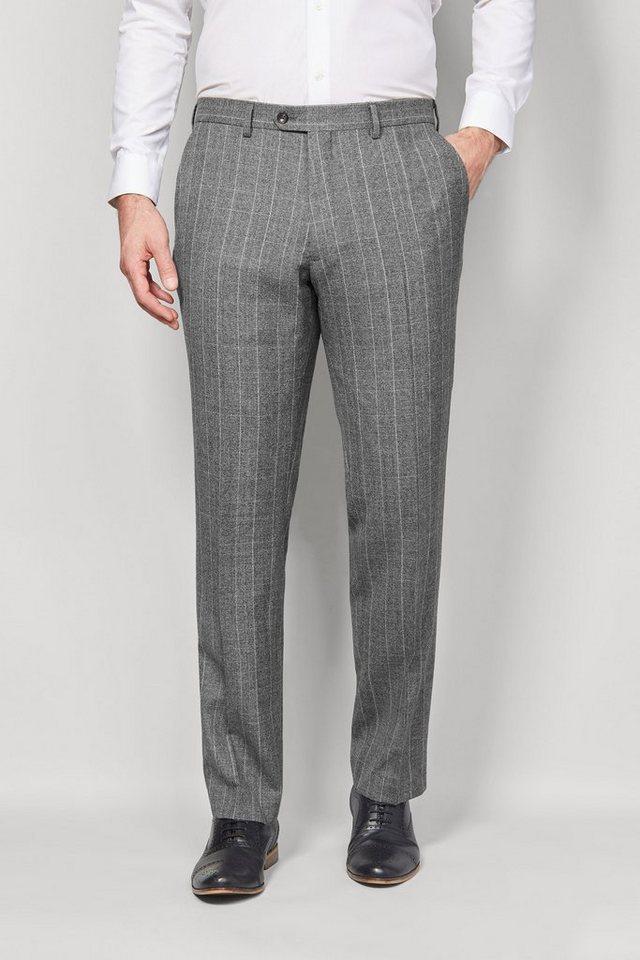 Next Glencheck-Baukastenhose aus englischem Wollstoff in Light Grey Tailored-Fit
