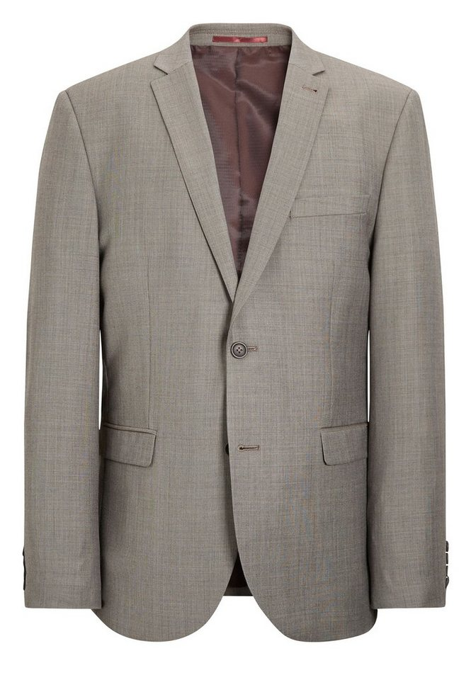 Next Tailored-Fit Baukastensakko aus Wollmix in Taupe Tailored-Fit