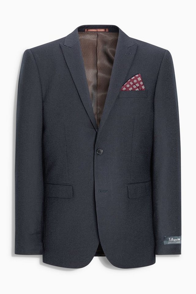 Next Tailored-Fit Nadelstreifen Baukastensakko in Navy Tailored-Fit