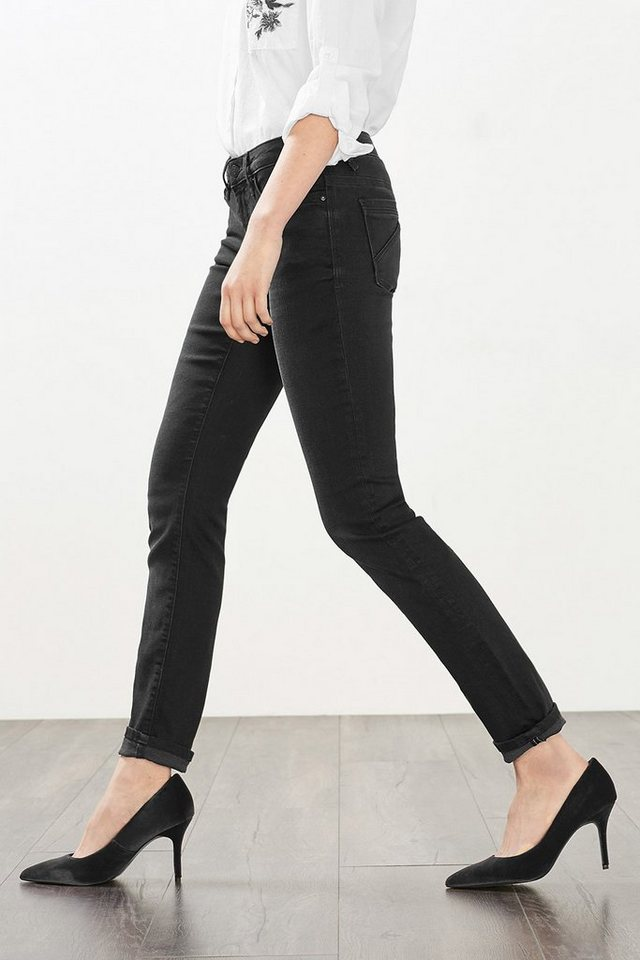 EDC Stretch-Jeans aus Premium Qualität in BLACK DARK WASHED