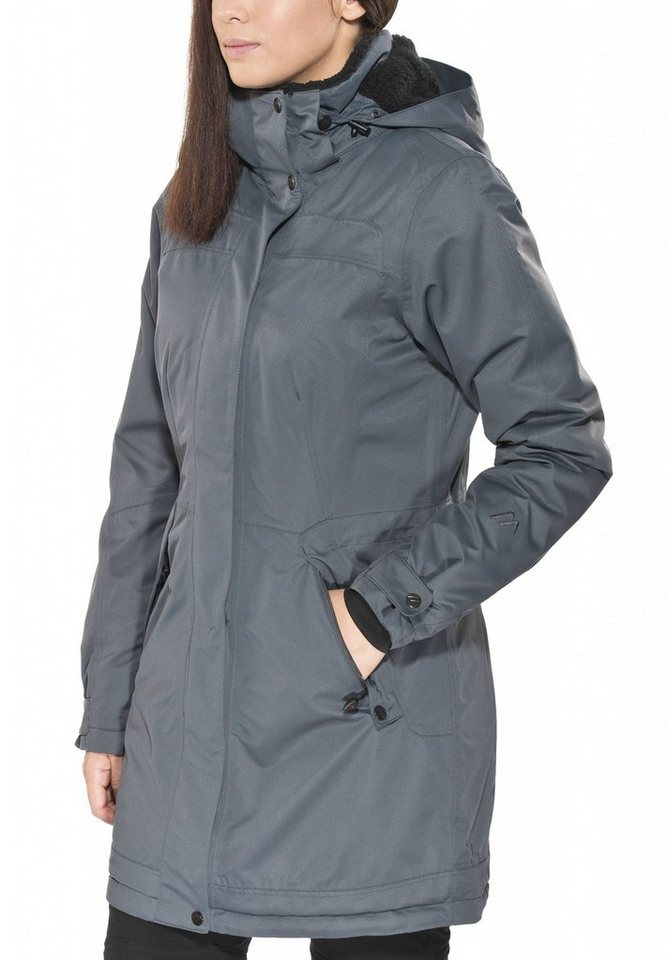Maier Sports Outdoorjacke »Lisa 2 Mantel Damen« in grau