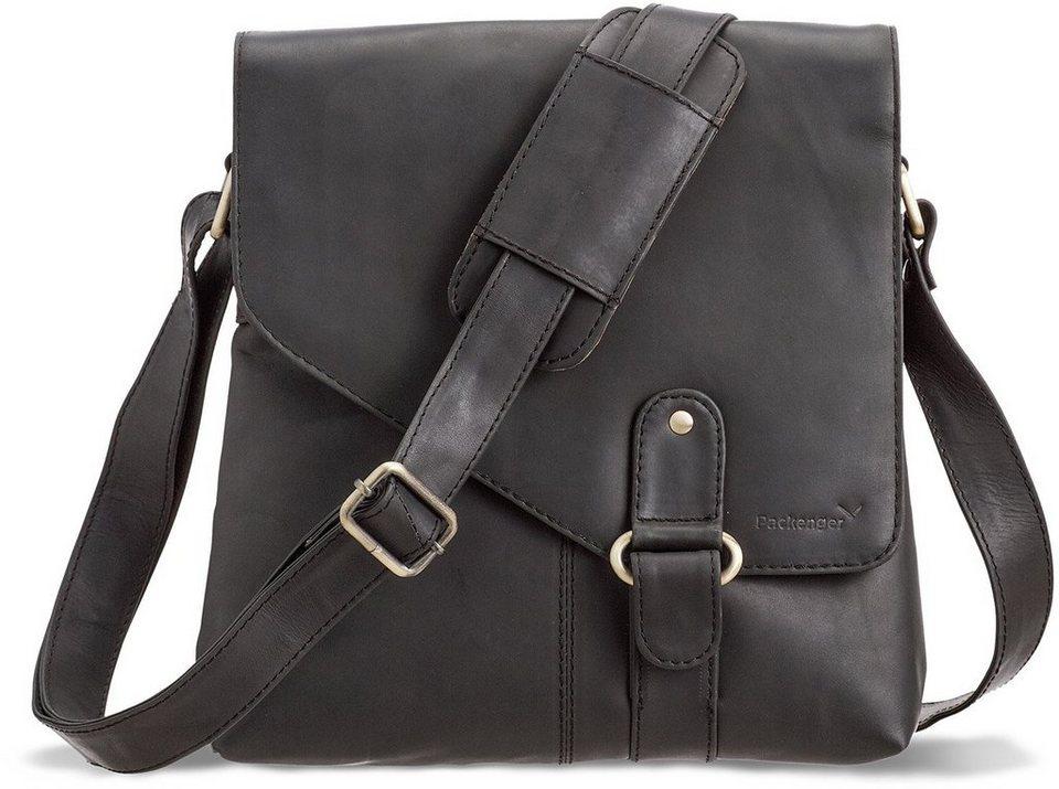 Packenger Umhängetasche mit 10,1-Zoll Tabletfach, »Kraka, schwarz« in schwarz