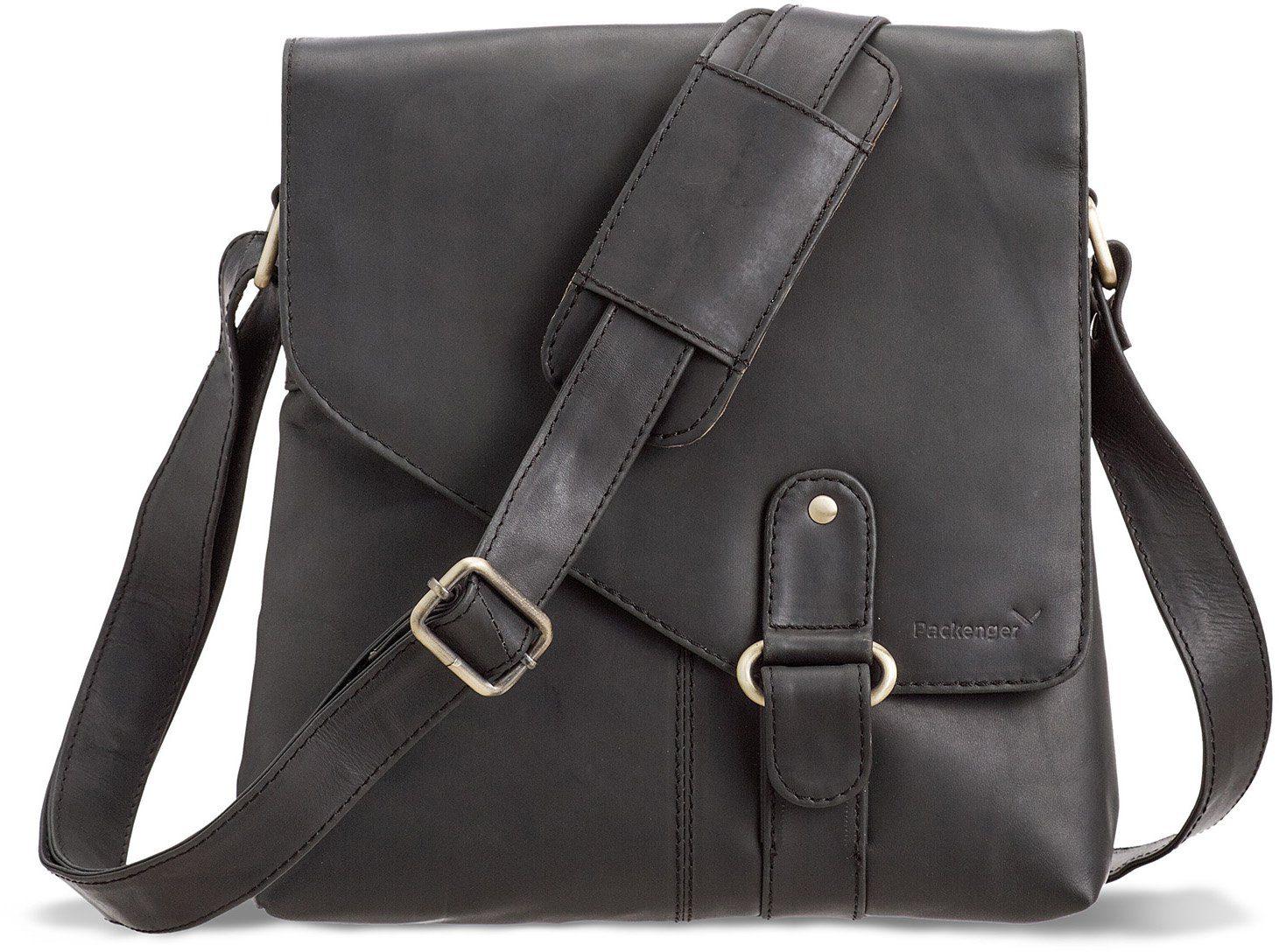 Packenger Umhängetasche mit 10,1-Zoll Tabletfach, »Kraka, schwarz«