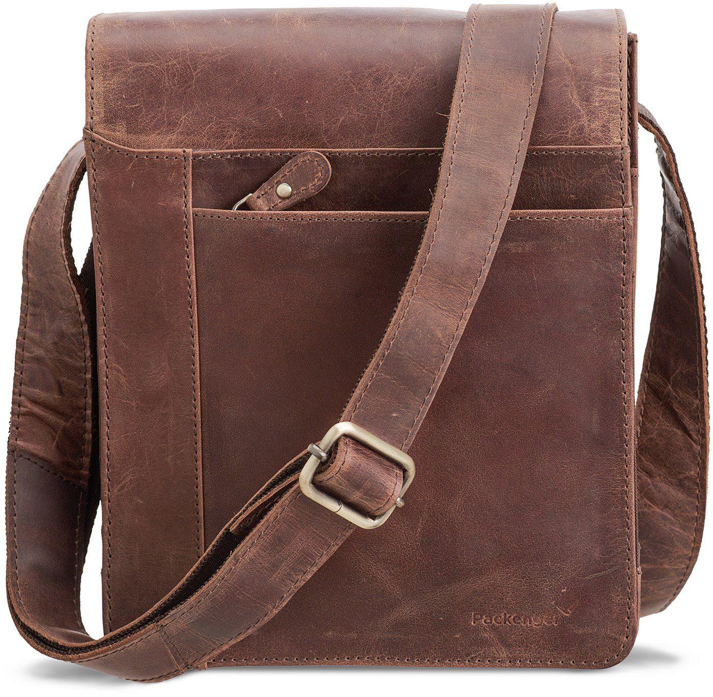 Packenger Umhängetasche mit 10,1-Zoll Tabletfach, »Olaf, vintage«