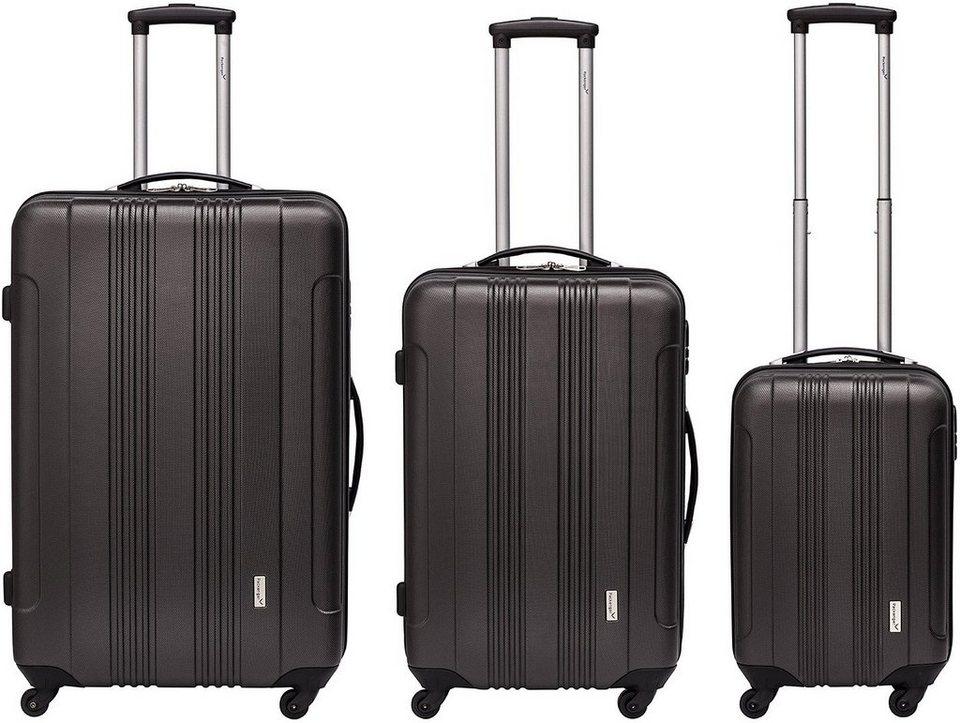 Packenger Hartschalentrolley Set mit 4 Rollen, »Torreto« (3tlg.) in anthrazit
