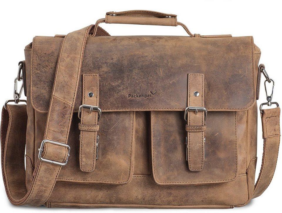 Packenger Umhängetasche mit 15-Zoll Laptopfach, »Kolbjorn, muskat« in muskat
