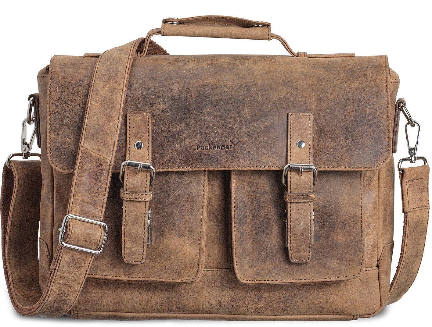 Packenger Umhängetasche mit 15-Zoll Laptopfach, »Kolbjorn, muskat«