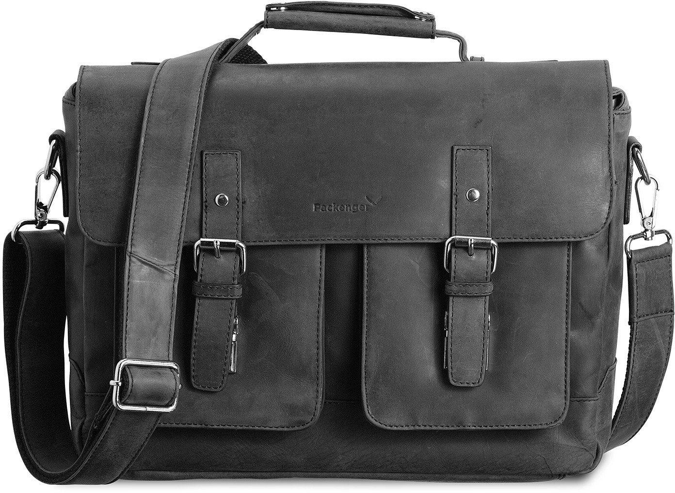Packenger Umhängetasche mit 15-Zoll Laptopfach, »Kolbjorn, schwarz«