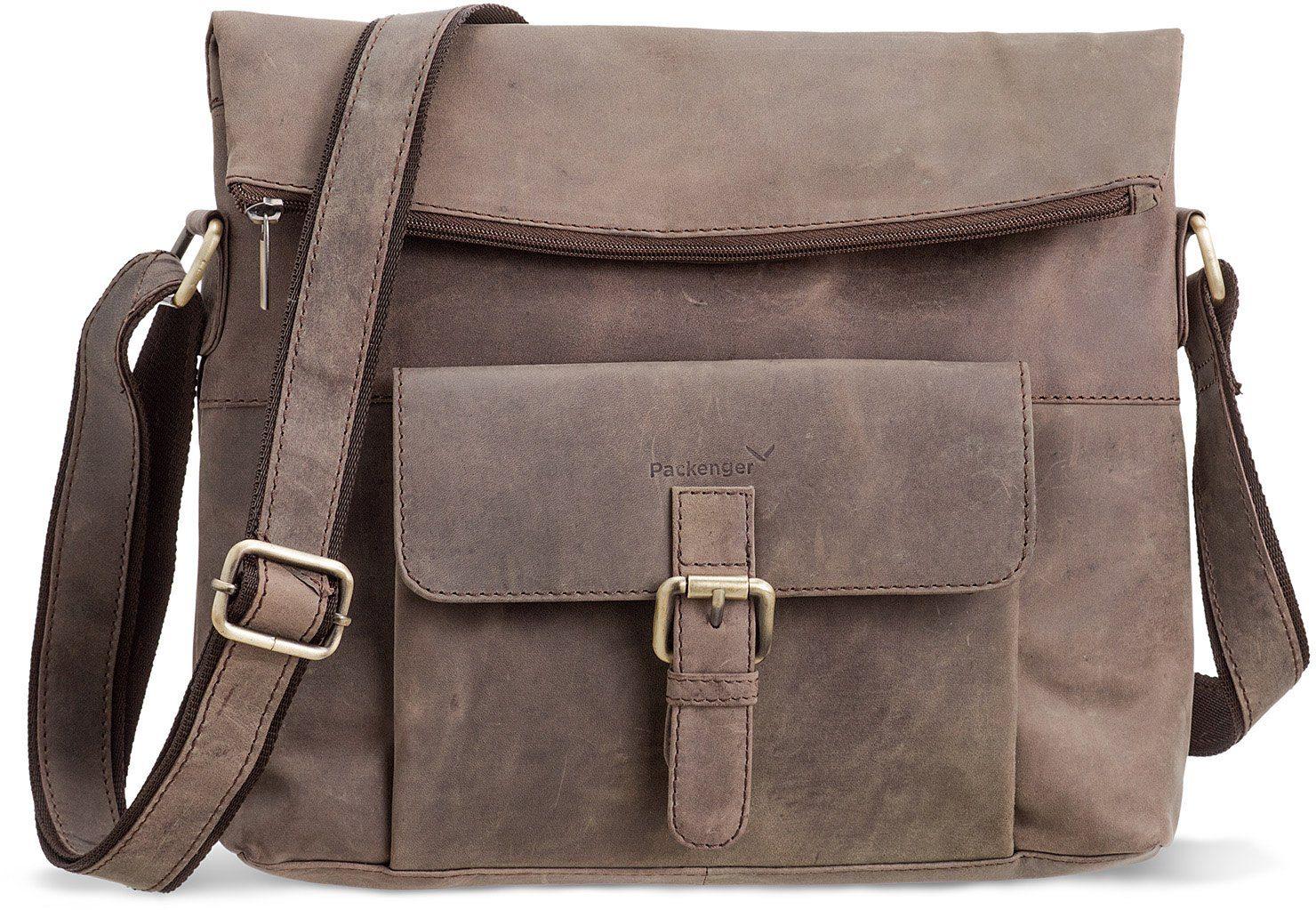Packenger Umhängetasche mit 10-Zoll Tabletfach, »Ivar, grau«