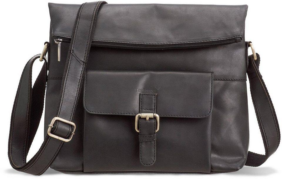 Packenger Umhängetasche mit 10-Zoll Tabletfach, »Ivar, schwarz« in schwarz