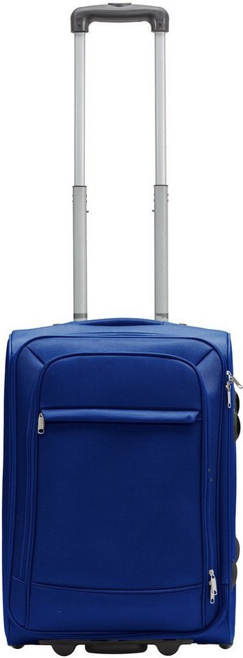 Packenger Weichgepäcktrolley mit 2 Rollen, »Lite Business Traveller« in blau